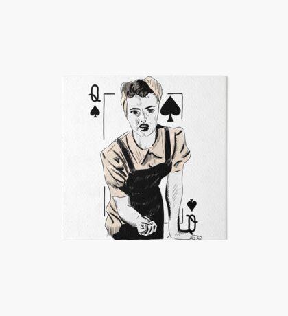 Wartime Land Girl Queen of Spades Art Board Print