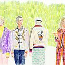 Gucci SS '17 backstage editorial illustration by beadylou