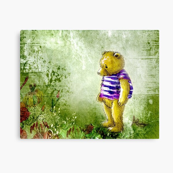 Botanical Bear Canvas Print