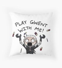 Play gwent with me Throw Pillow