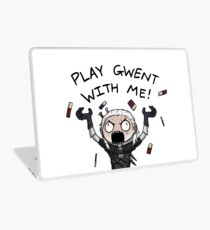 Play gwent with me Laptop Skin