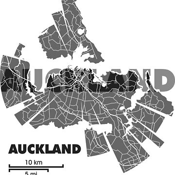 Auckland Map by UrbanizedShirts