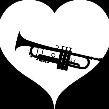 Trumpet heart music by RetroFuchs