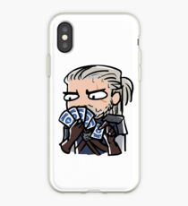 Geralt playing gwent iPhone Case