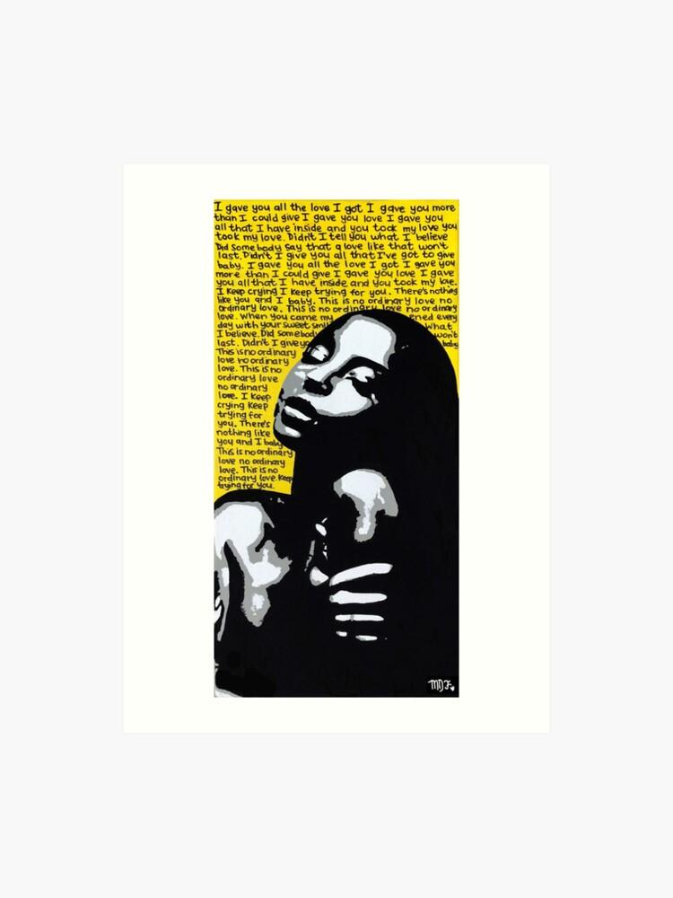 Sade / No Ordinary Love / Pop Art | Art Print