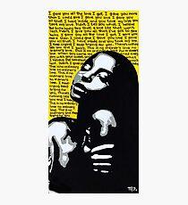 Sade / No Ordinary Love / Pop Art Photographic Print