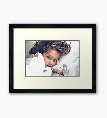 In White Sheets With Mousie Framed Print