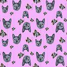 kitty kat flower pattern by hdettman