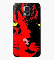 ANGRY CAT POP ART - RED YELLOW BLACK Case/Skin for Samsung Galaxy