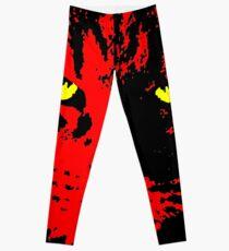 ANGRY CAT POP ART - RED YELLOW BLACK Leggings