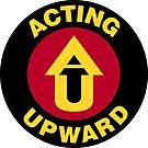 Acting Upward Logo Round by Zero Dean
