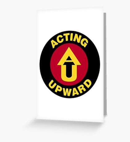 Acting Upward Logo Round Greeting Card