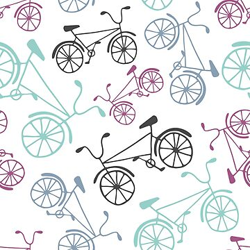Colorful cute bicycles by nastybo