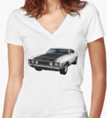 Ford Falcon XA GT Coupe Women's Fitted V-Neck T-Shirt