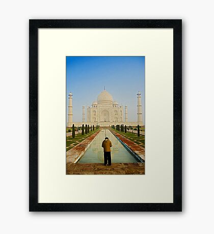 Capturing the Reflection of White Beauty Framed Print
