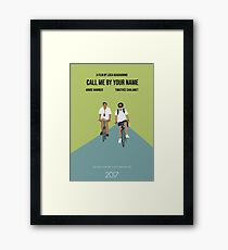 Call Me By Your Name Minimal Movie Poster Framed Print