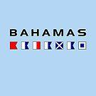 Bahamas Maritime Nautical Signal Flags Light-Color by TinyStarAmerica