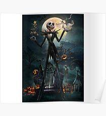 skull pumkin Poster
