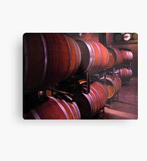 barrels in a winery Metal Print