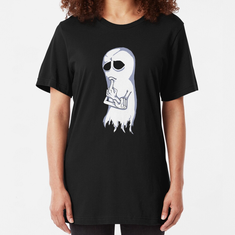 Contemplative Ghost Slim Fit T-Shirt