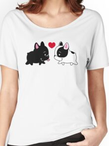 Frenchies in Love Women's Relaxed Fit T-Shirt
