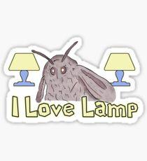 Moth Loves Lamp Meme Sticker