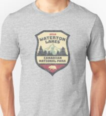 Vintage Waterton Lakes T-shirt and Canadian National Park Hikers Shirt Unisex T-Shirt