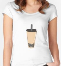 boba tea Women's Fitted Scoop T-Shirt