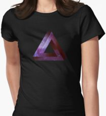 Infinite Penrose Triangle Galaxy Women's Fitted T-Shirt