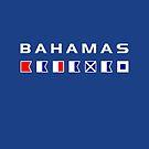 Bahamas Maritime Nautical Signal Flags Dark Color by TinyStarAmerica