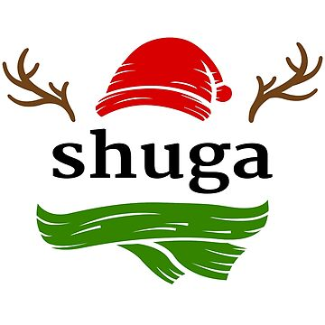 Shuga the Rednosed Reindeer by shugashirts