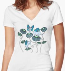 Look Out For Elephlies Women's Fitted V-Neck T-Shirt