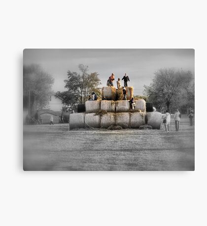 King Of The Hay Canvas Print