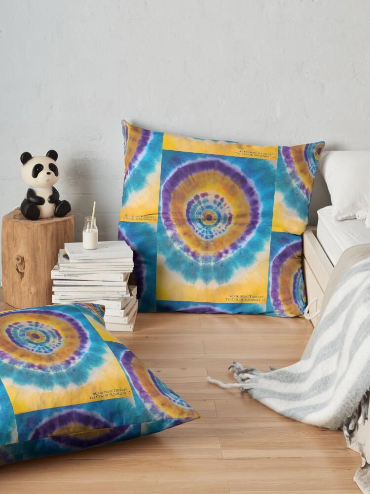 Alternate view of Tri-color Sunburst v1 Floor Pillow