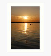 Golden Lake Sunset Art Print