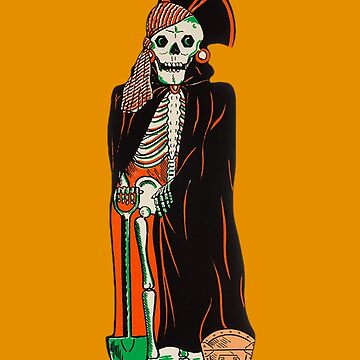Halloween Pirate Skeleton by zombill