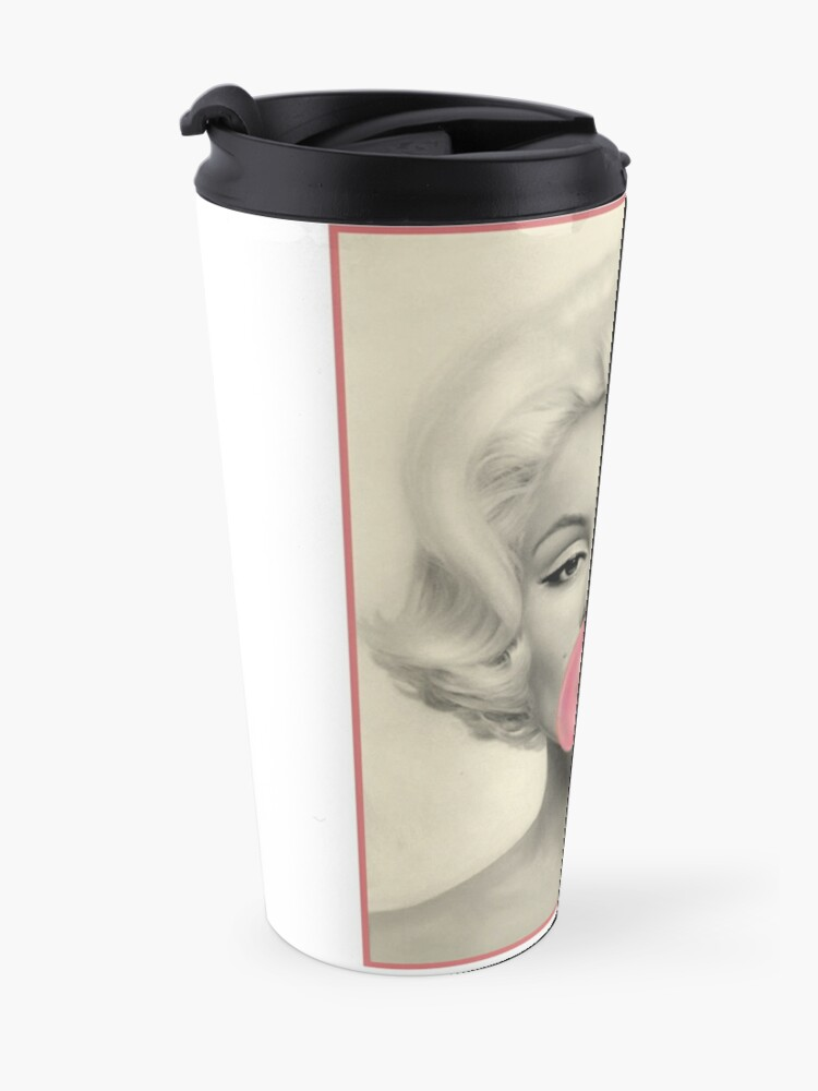 Alternative Ansicht von MARILYN MONROE: Blasengeblasener Druck Thermobecher