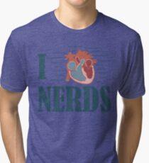 I HEART Nerds Tri-blend T-Shirt