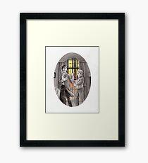 """Life is Infinitely Stranger"""" - Sherlock and John - 221B version #  Framed Print"""