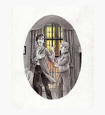 "Life is Infinitely Stranger"" - Sherlock and John - 221B version #  Photographic Print"