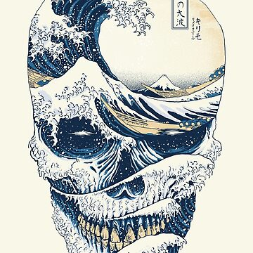The Great Wave off Skull by quilimostock