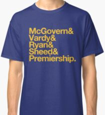 AFL West Coast Eagles Premiers 2018 McGovern Vardy Ryan Sheed Classic T-Shirt