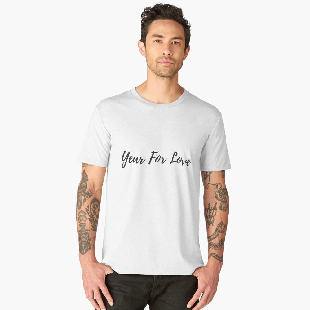 Year For Love  Men's Premium T-Shirt Front