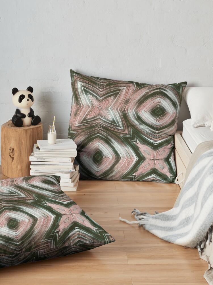 Alternate view of grey-pink Floor Pillow
