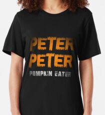 Mens Peter Peter Pumpkin Eater Couples Halloween Costume T-shirt Slim Fit T-Shirt