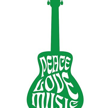 Peace Love Music by feedercreative