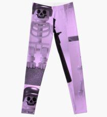 Skeleton Zombie Soldier with Custom Minifigure Helmet and baooka Leggings
