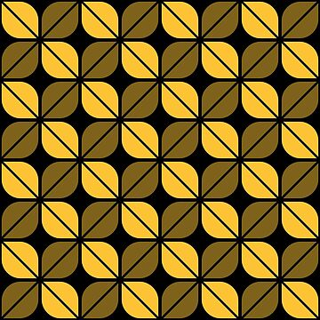 Geometric Pattern: Leaf: Yellow/Black by redwolfoz