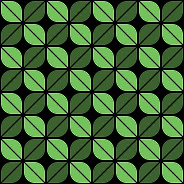 Geometric Pattern: Leaf: Green/Black by redwolfoz