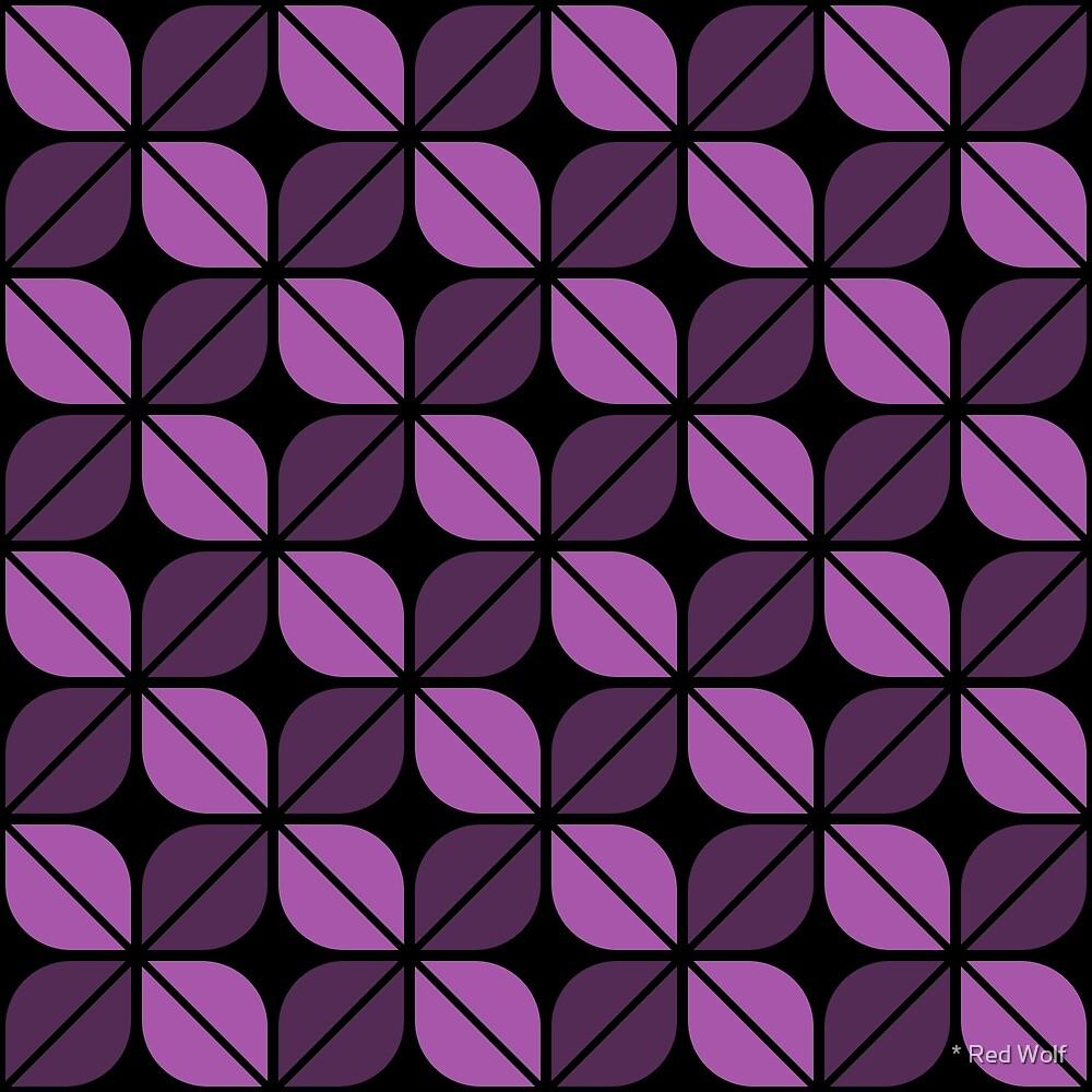 Geometric Pattern: Leaf: Purple/Black by * Red Wolf